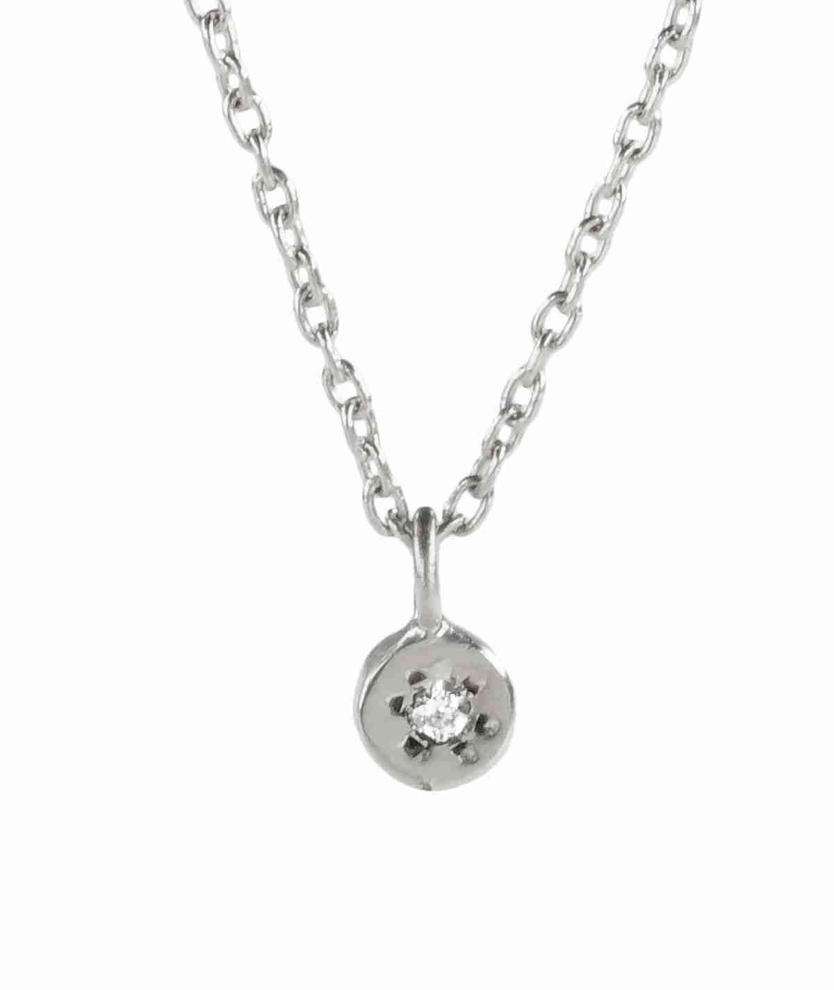 silver delicate gemstone necklace