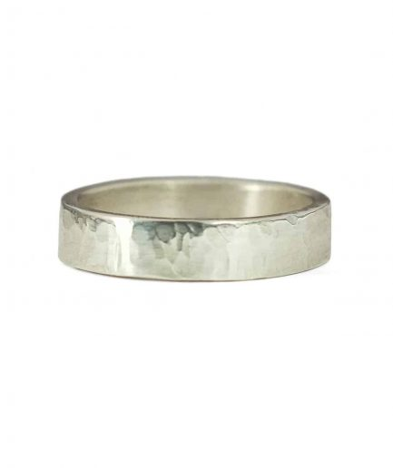 hammered texture wedding band