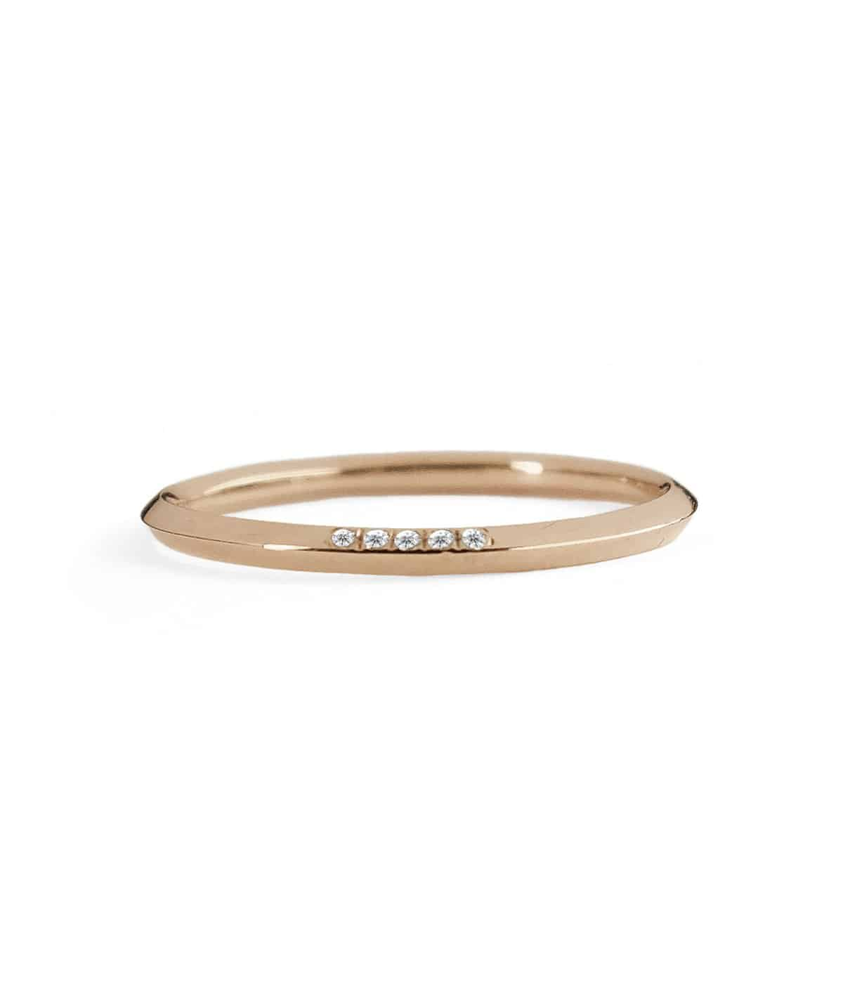 rose gold 5 pointes wedding band