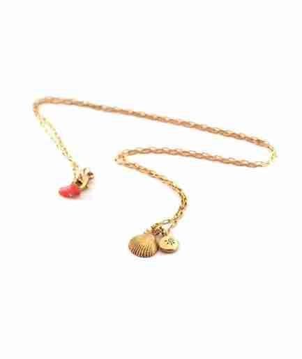 gold seashell pendant