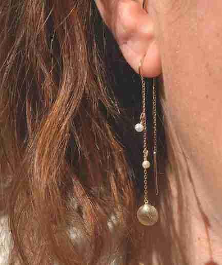 threader seashell earrings