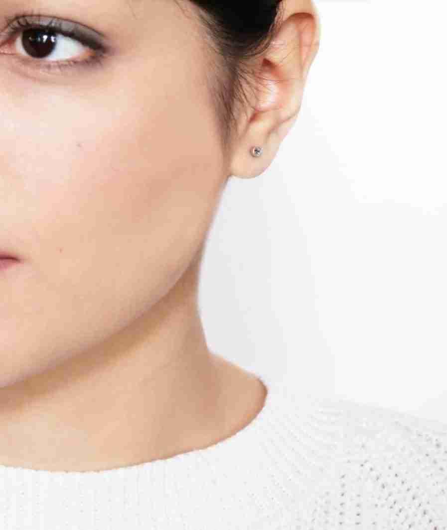 silver tiny stud earrings