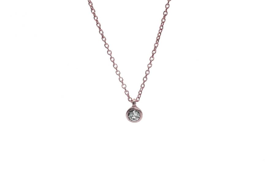 rose gold diamond pendant necklace