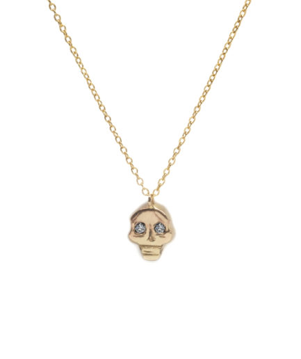Skull diamond pendant