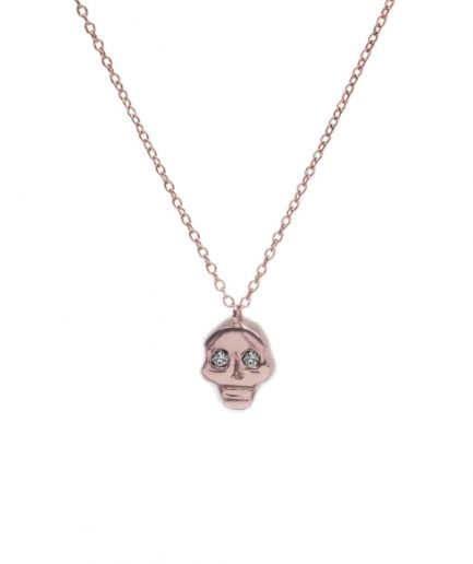 rose gold skull pendant