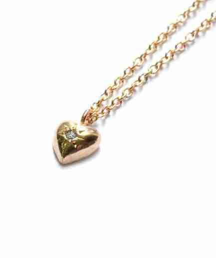 heart pendant, heart diamond pendant