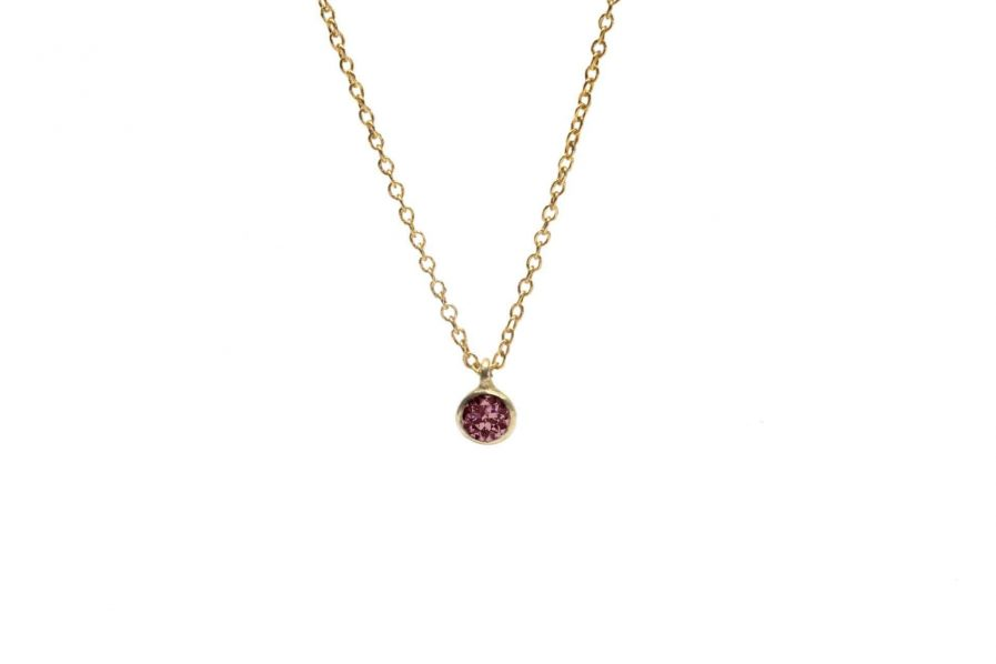 red tourmaline pendant necklace