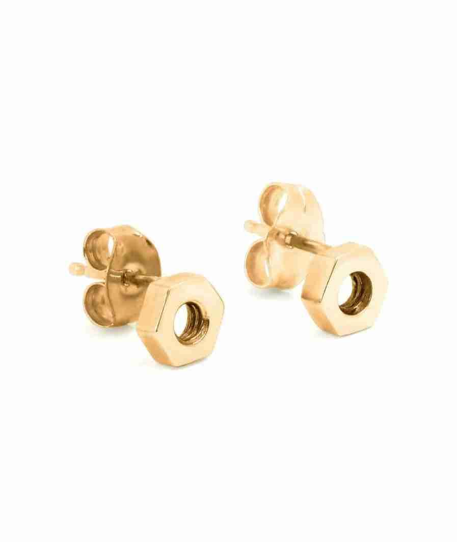 hexagon shape stud earrings