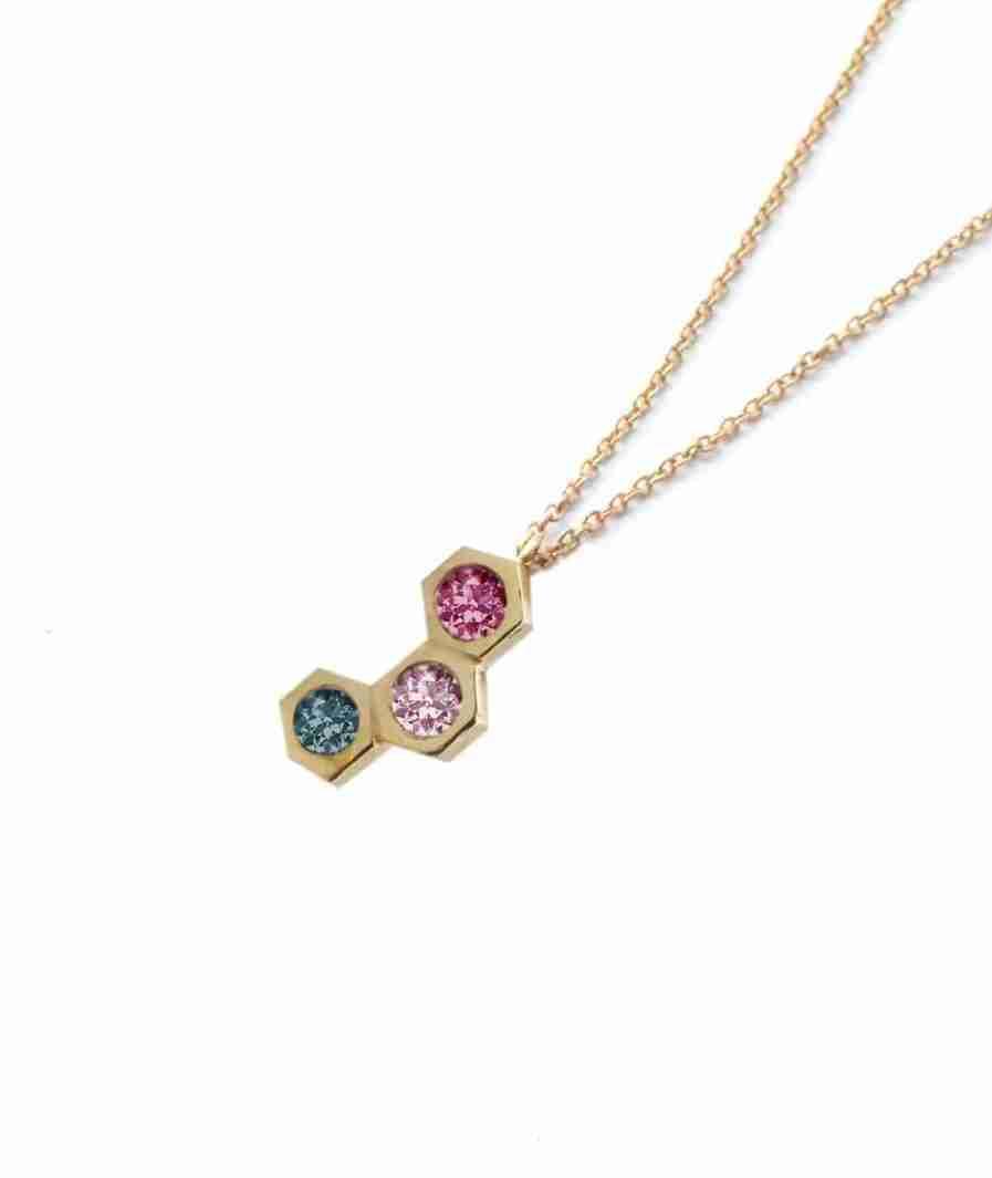 Three stone necklace