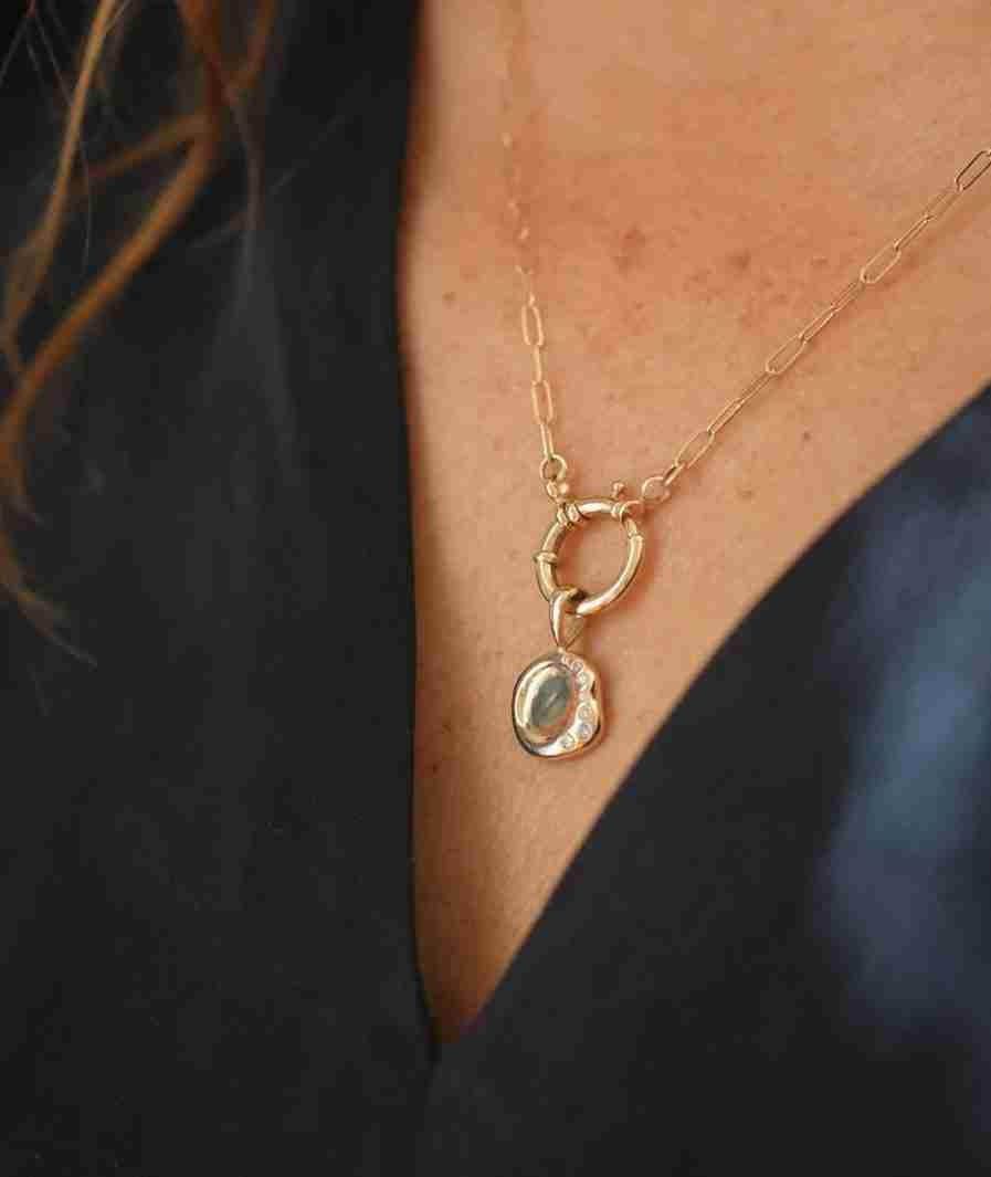 mini wax seal necklace